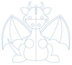 Cartoon Dragon Third Step