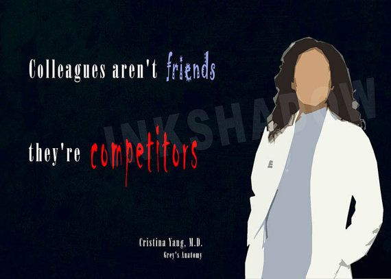 Greys Anatomy Cristina Yang quote minimal poster by ...