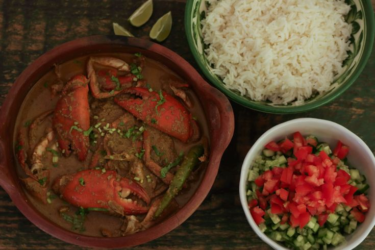 Goan Crab Curry: A deliciously rich but easy crab curry in a coconutty sauce.