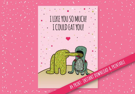 Digital Card Celebrating Yummy Love Digital and Printable
