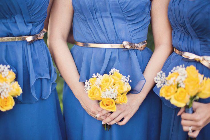 Chiffon peplum bridesmaids dresses by Damsel Maids Photography: Mint Photography - mymintphotography.com