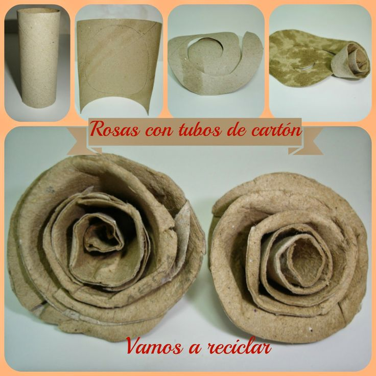 ¡Vamos a reciclar! - Rosas con tubos de papel higiénico