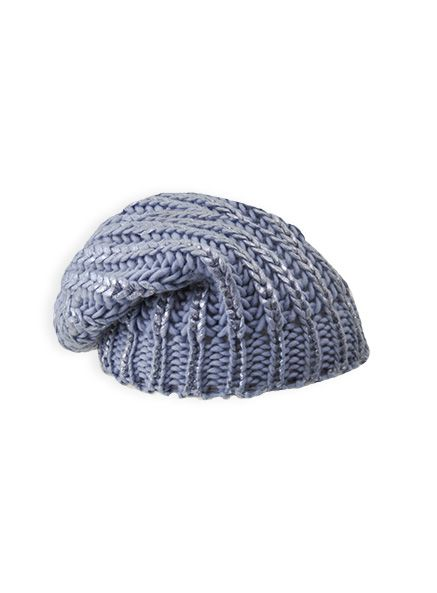 Pumpkin Patch - accessories - girls metallic slouch beanie - W4AX10032 - dusty blue - s to l