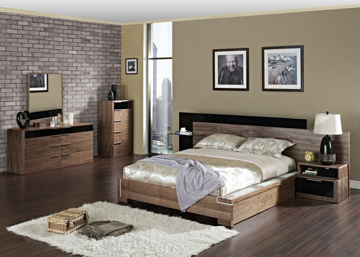 seville walnut bedroom furniture modern sets dark oak