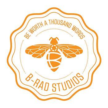 Test Monki, B-Rad Studios, logo design, photography, bee, branding, brand identity, stamp