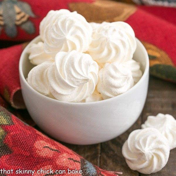 Share Tweet Pin Mail These Simple Meringue Cookies will melt in your mouth and tantalize your sweet tooth!  Simple Meringue Cookies Meringue cookies can ...