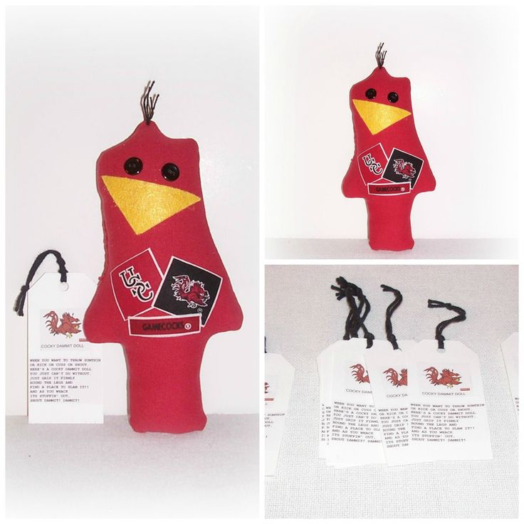 Cocky Gamecock Game Day Doll,Stress Anger DE-Stress Mad Grab It USC Cocky Doll,University Of South Carolina,Karma Dammit Doll EerieBeth EB12 by SheCollectsICreate on Etsy