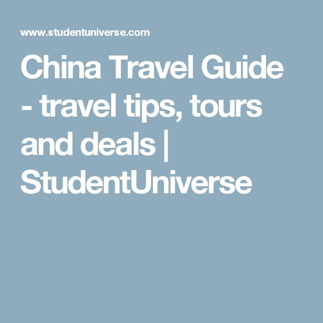 China Travel Guide -  travel tips, tours and deals | StudentUniverse