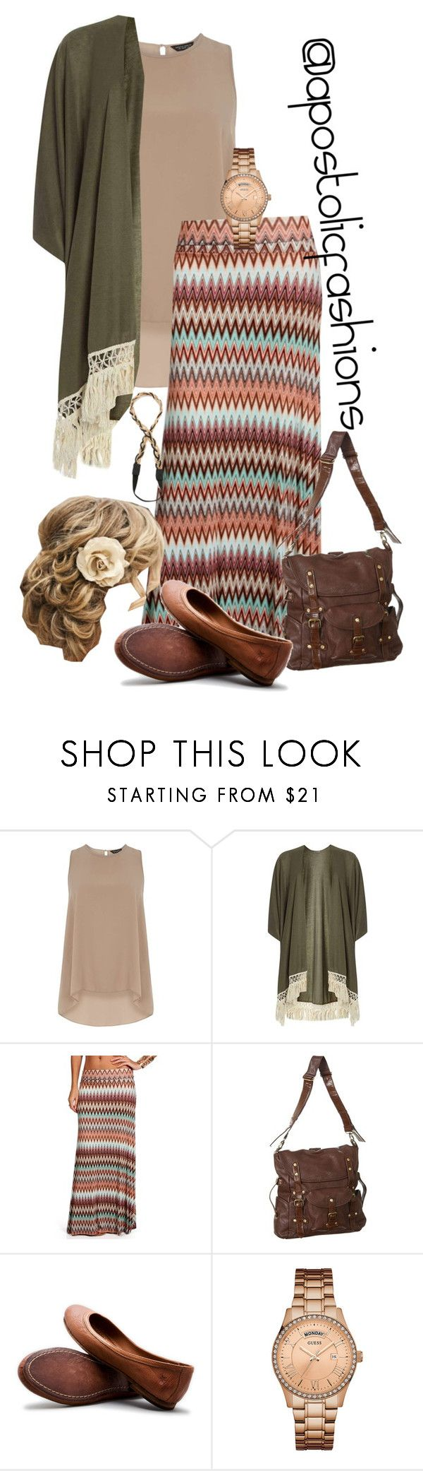 """Apostolic Fashions #1602"" by apostolicfashions ❤ liked on Polyvore featuring Dorothy Perkins, Frye, GUESS, Jules Smith, modestlykay and modestlywhit"