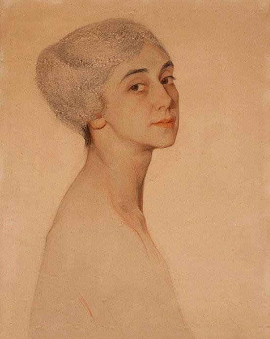 Портрет балерины Тамары Карсавиной, 1915.Сорин Савелий