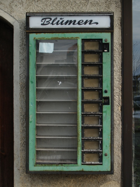 Blumenautomat--Flower vending machine in the 70's