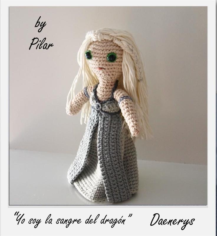 Game Of Thrones Amigurumi Pattern Free : Daenerys amigurumi #Gameofthrones #naturadmc