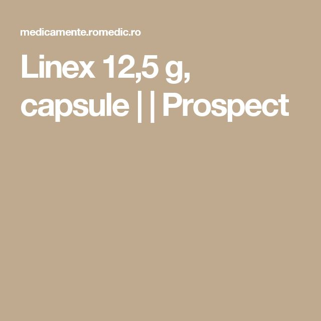 Linex 12,5 g, capsule |  | Prospect