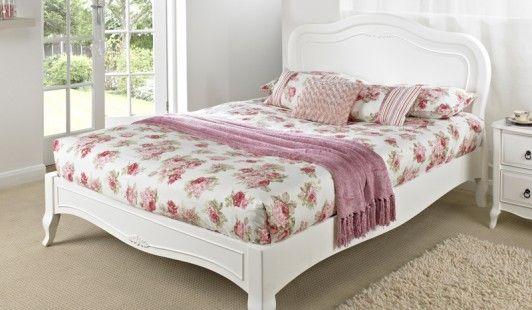 Fleurette double size bed frame beds pinterest for Nice bed frames