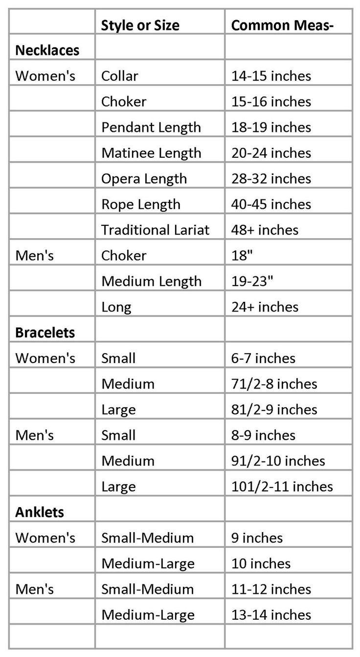 Bracelet/ Anklet Length