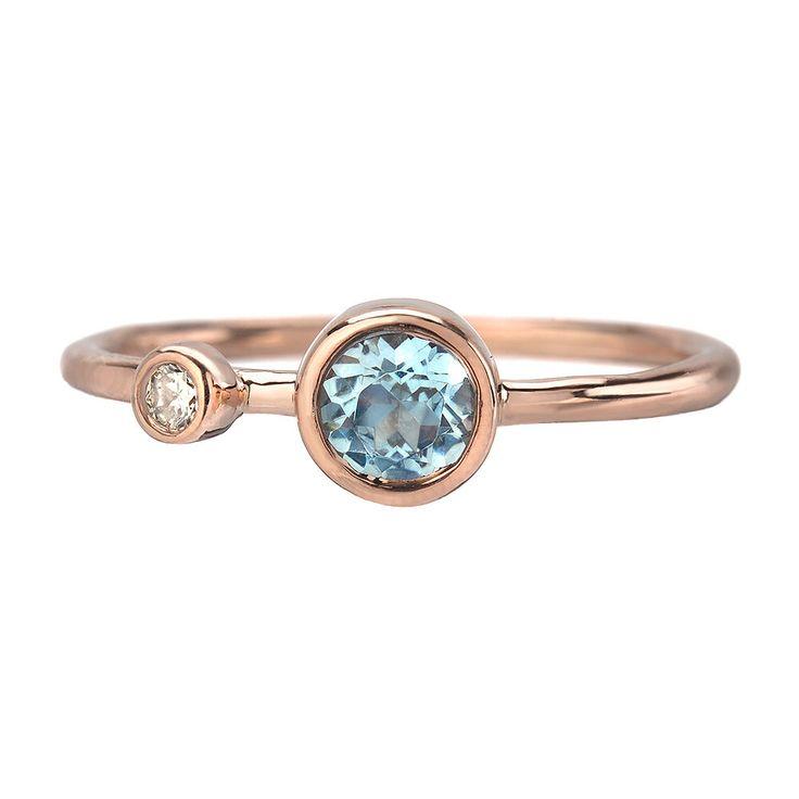 25 melhores ideias de Aquamarine ring rose gold no Pinterest