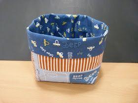 CON HILO Y TELAS: Tutorial para hacer cestas de tela