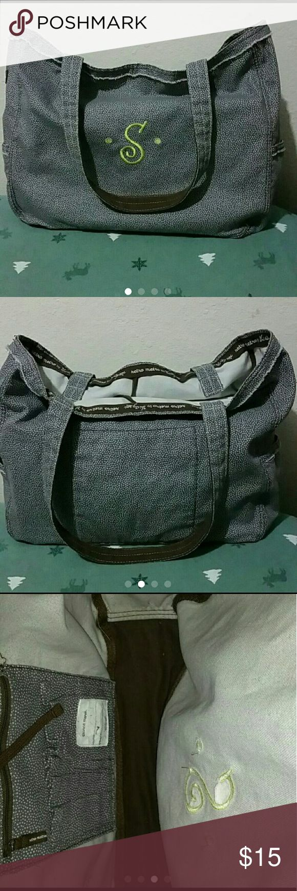 """Thirty-one retro metro large bag Thirty-one retro metro large bag with """"S"""" monogram in great condition Thirty-one Bags Totes"""