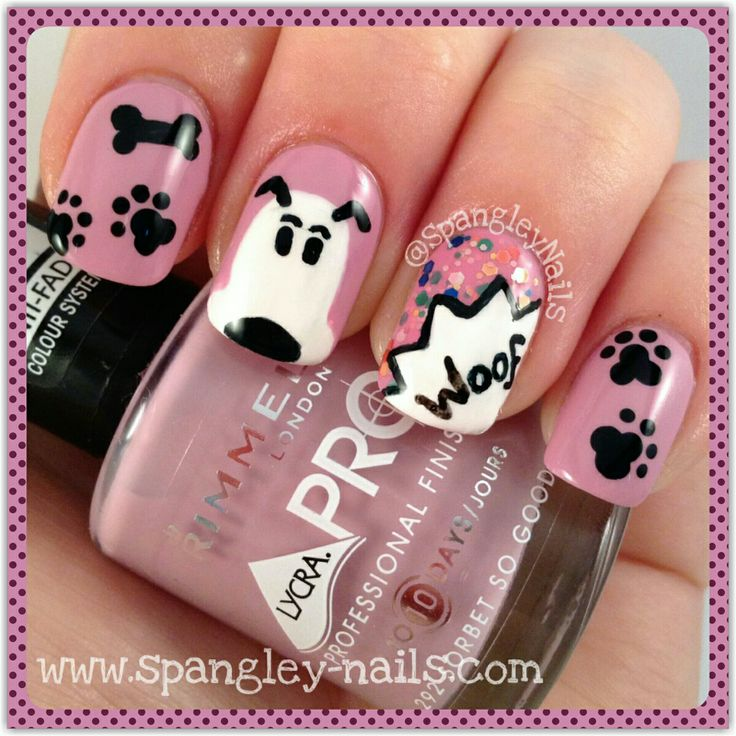 I love this super cute dog mani! Perfect for any occasion, super easy to do & on the blog now! Pop on over for all the details.  (Direct link in bio).