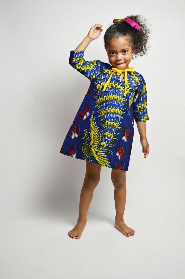 Buntes Kleid für Kinder in afrikanischem Stil // colourful dress for kids in african style by Malaika Designs via DaWanda.com