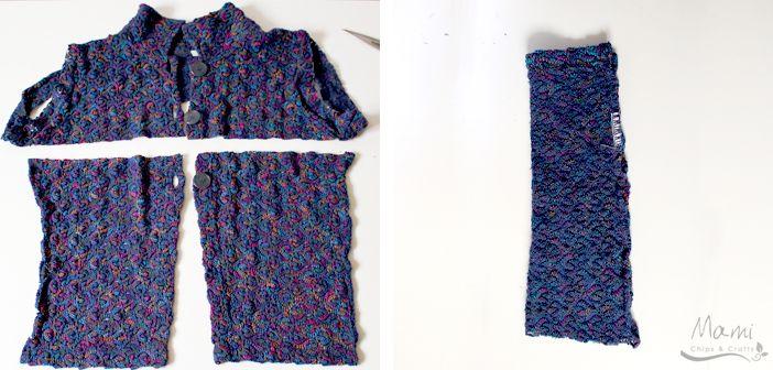 riciclo creativo fai da te di un vecchio maglione