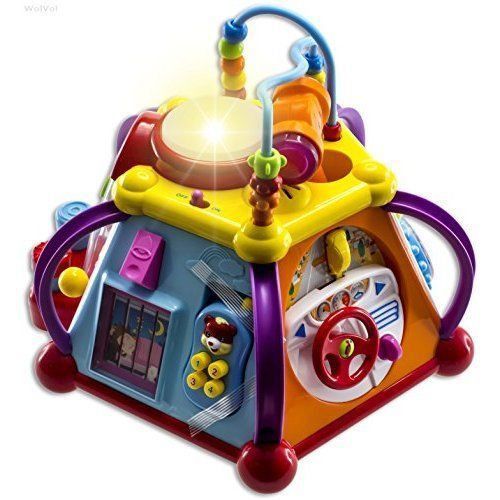 Musical Activity Cube Play Center with Lights, 15 Functions & Skills, Toys Kids #SD4U