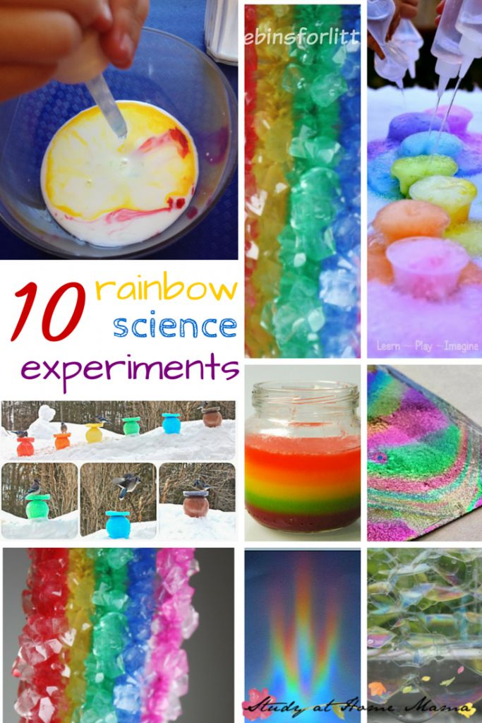 50+ Rainbow Activities and Snacks -- plus give-away! ⋆ Study at Home Mama