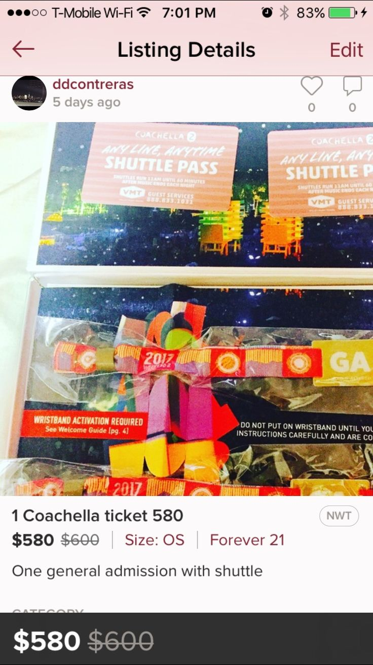 Selling Coachella ticket hit me up for more info