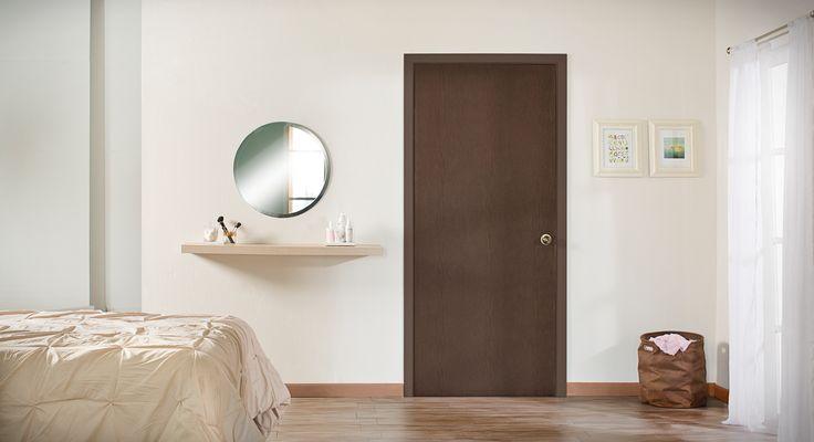 Combo puerta y marco Capuchino para interior. Medidas: 90x213. Servicio de corte opcional*