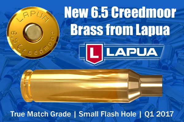 Lapua Creedmoor 6.5 Brass cartridge 1.5mm tactical case
