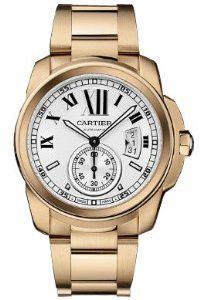 Cartier Calibre Automatic Steel/Pink Gold Watch W7100036                                                                                                                                                                                 More