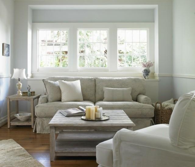 104 best shabby chic neutral living room design images on, Wohnzimmer dekoo