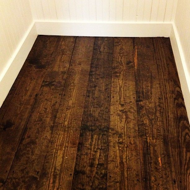 Pine Floor with Jacobean Minwax