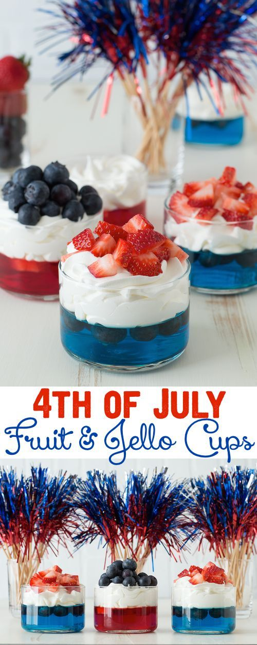 4th of july themed jello shots