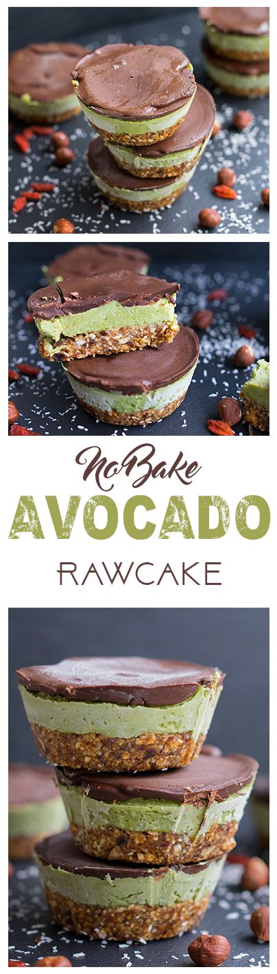 Raw avocado creme cake no bake. This and more healthy recipes on www.eat-vegan.de (english and german recipe version available) (Vegan Chocolate)