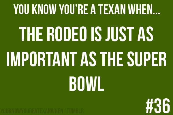 """The amount of times I've heard """"Let's rodeo San Antonio"""" in the last few weeks...."""