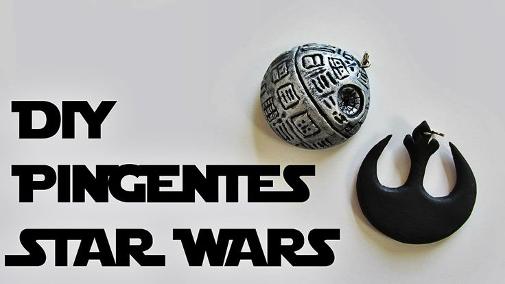 DIY: How to Make STAR WARS Pendants Polymer Clay Pendant