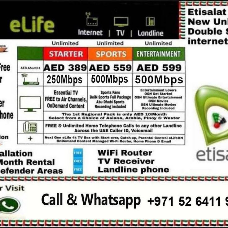 Etisalat Home Service Provider Home