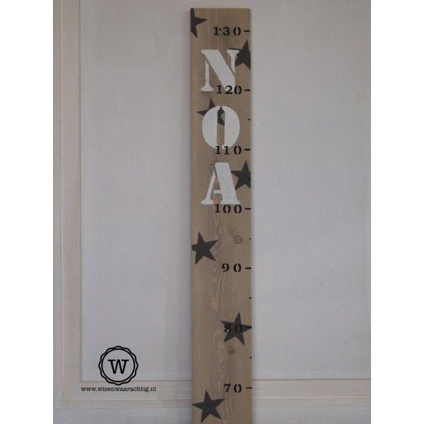 Groeimeter met naam en sterren - Wis en Waarachtig
