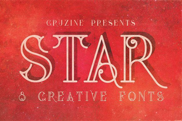 Star Typeface by Cruzine on @creativemarket