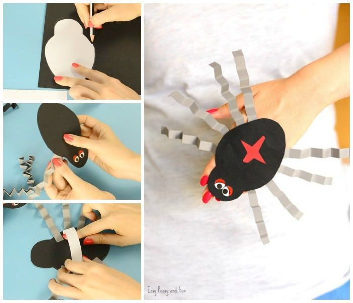 Spider Paper Hand Puppet with Printable Template