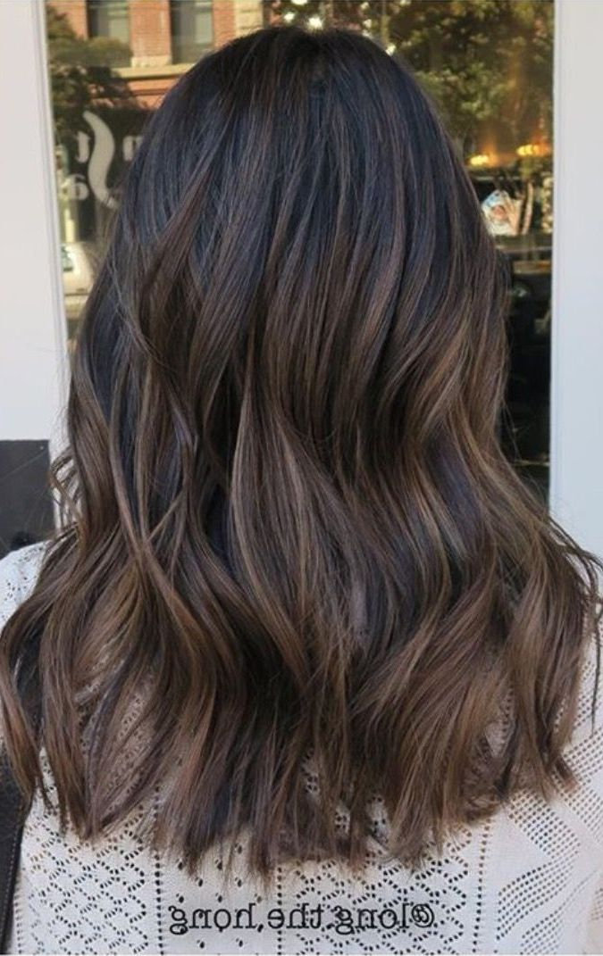 25 Balayage Hair Color Ideas For Black Hair In 2019 With Hairstyle Hair Color For Black Hair Black Hair Haircuts Black Hair With Highlights