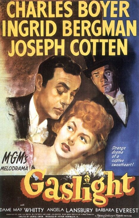 Gaslight (1944)--such a thriller. Boyer is chilling and Ingrid Bergman is so vulnerable and fragile