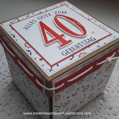 www.kreativespotpourri.wordpress.com - Exploshionbox - Geldgeschenk für eine Frau - Thema Segeln