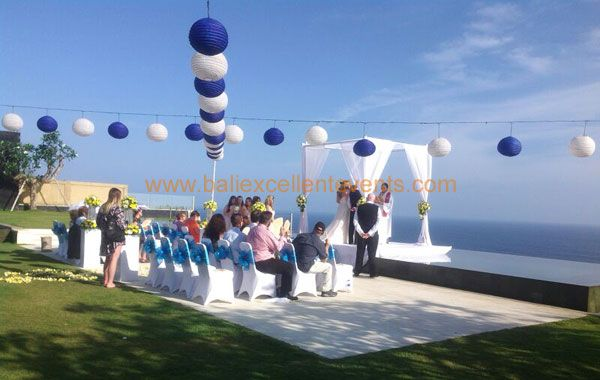 private ceremony with family and friends