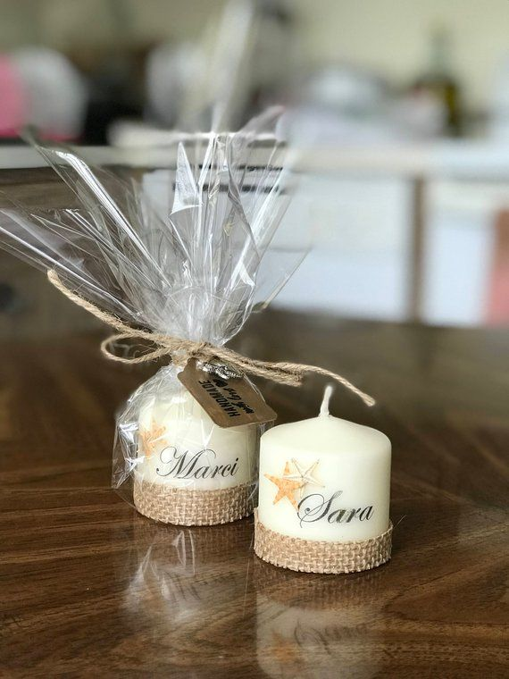 Handmade Personalized Starfish Candles, Party Favors, Gifts, Personalized Candle, Weddings, Personalized Gift, Under The Sea Favors