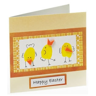 Thumb print Easter card
