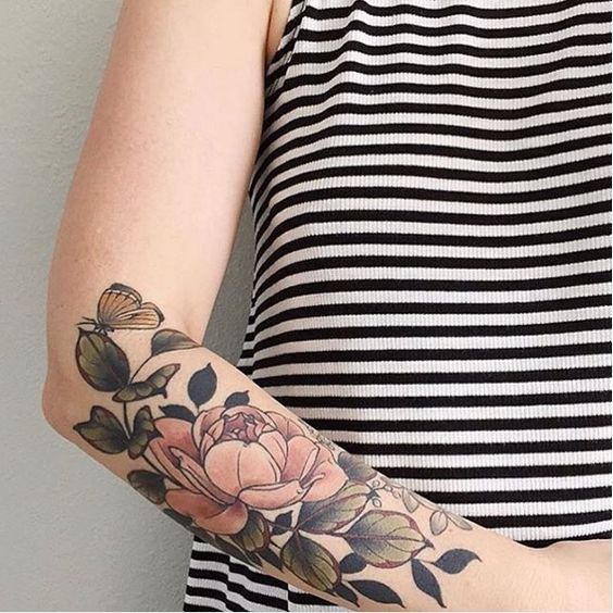 best 25 vintage flower tattoo ideas on pinterest vintage floral tattoos temporary tattoos. Black Bedroom Furniture Sets. Home Design Ideas