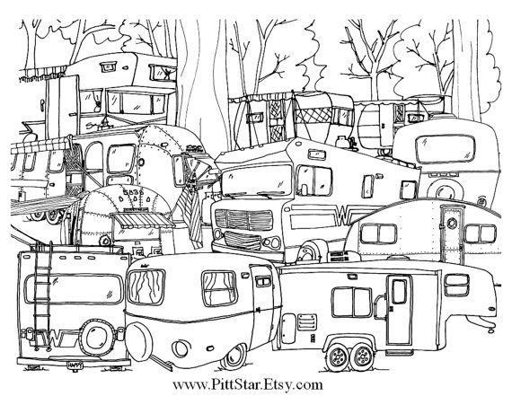 motorhome coloring pages - photo#19