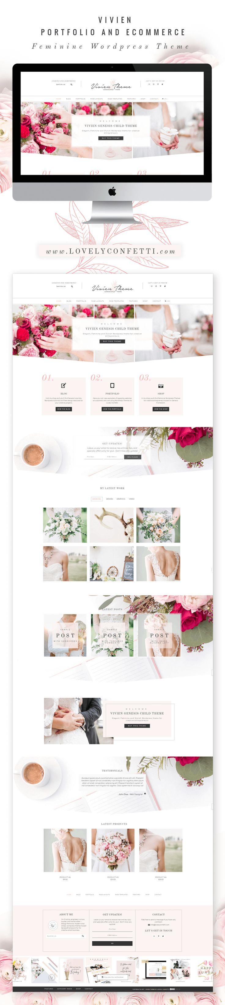 Nueva plantilla Wordpress femenina para proyectos creativos - Lovely Confetti